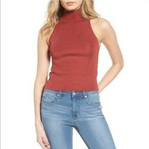 Leith Mock Neck Sweater Tank
